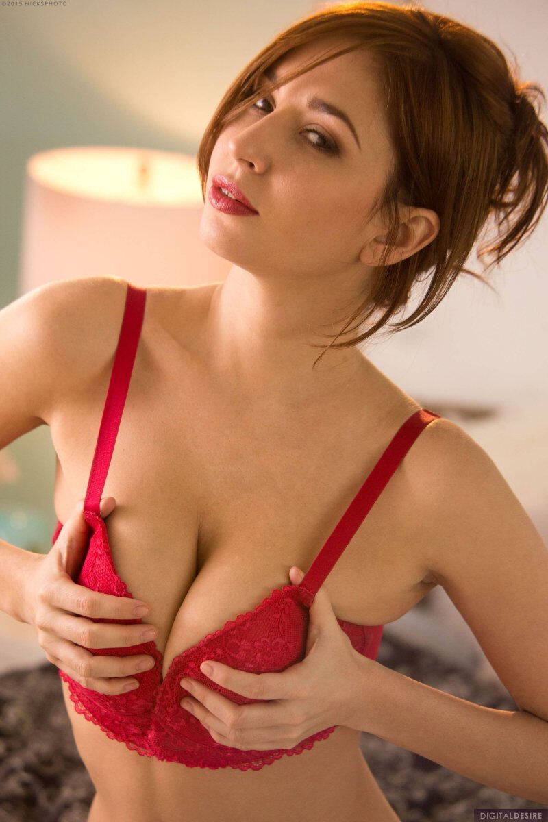 Erotic photos with Shay Laren: Red Lingerie
