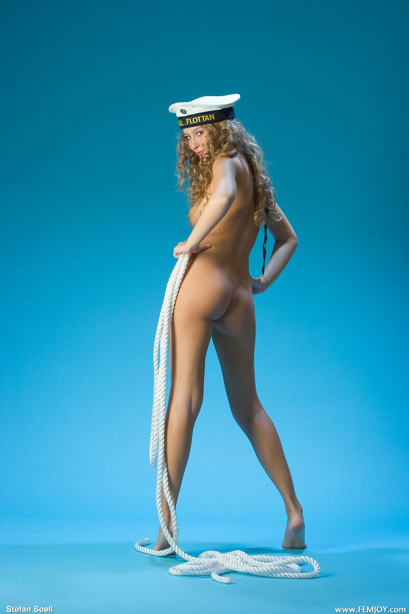 Erotic photos with Kinga: In The Navy with sexy blonde