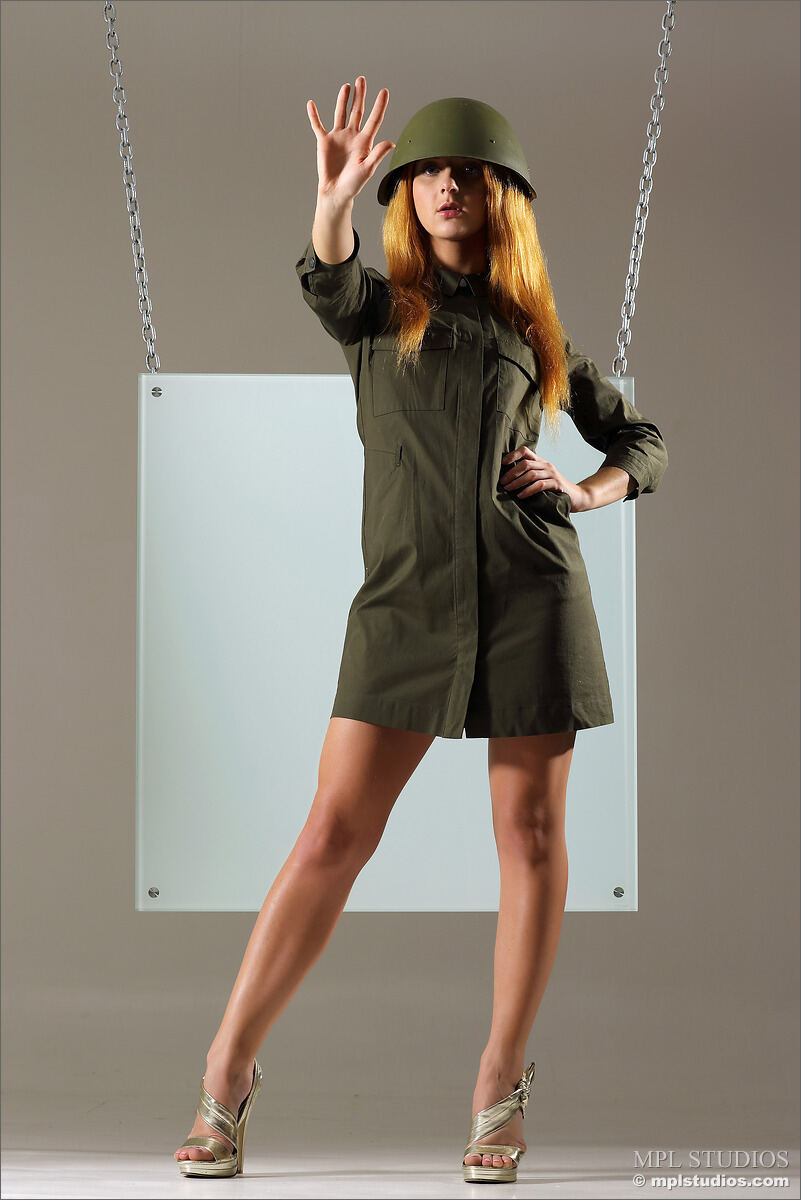 Erotic photos with Colette: In the Army Now