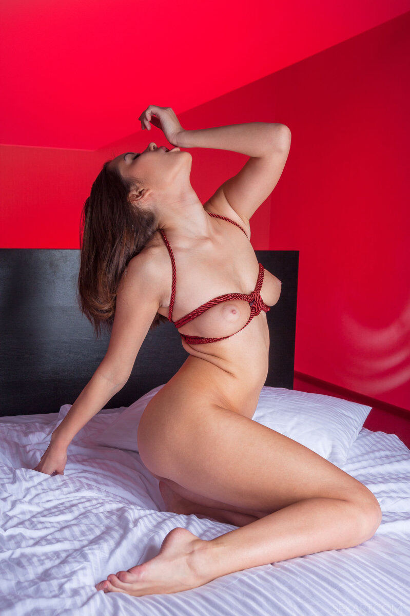 Erotic photos with Nastya K: In red room