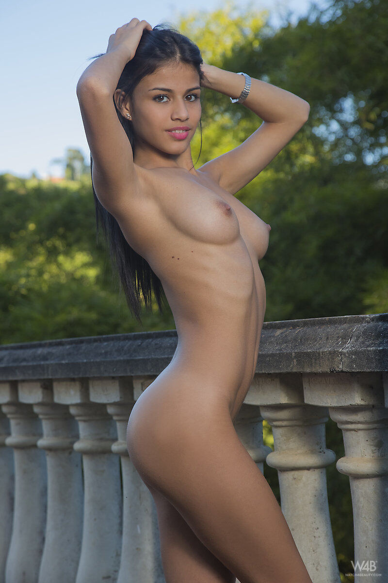 Erotic photos with Denisse Gomez: Cute Latina Yellow Bikini